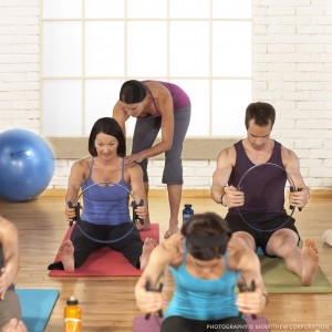Group in a pilates class