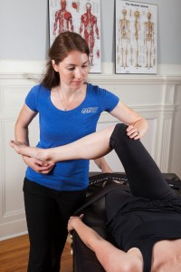 Image of Kelly performing Fascial Stretch Therapy